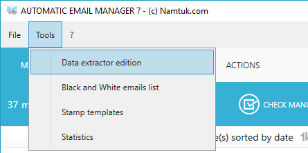 email data extractor editor