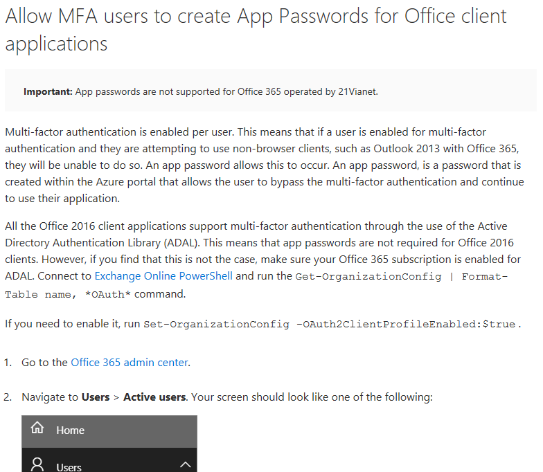Office365 dual auth website