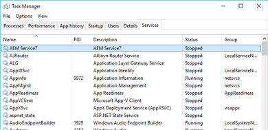 AEM7 Windows service