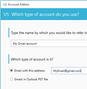 enter your gmail account